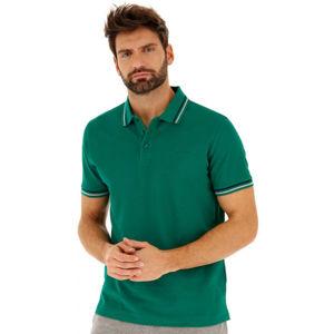 Lotto POLO CLASSICA PQ tmavo zelená L - Pánske polo tričko