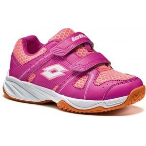 Lotto JUMPER 400 CL S ružová 31 - Detská halová obuv