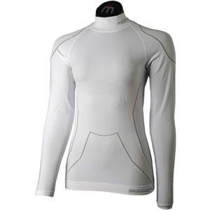 Mico LONG SLEEVES MOCK NECK SHIRT WARM SKIN W biela XL - Dámske lyžiarske spodné prádlo