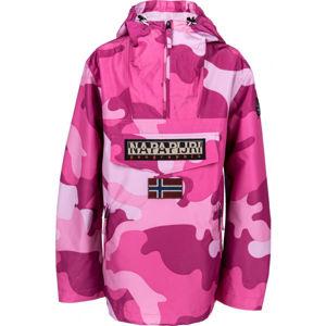 Napapijri RAINFOREST S W PRT 1 PINK CAMO ružová L - Dámska bunda