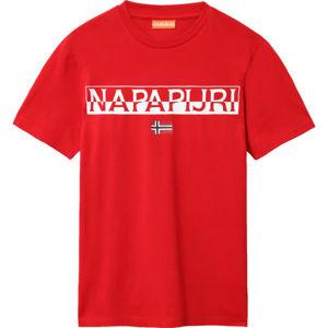 Napapijri SARAS červená L - Pánske tričko