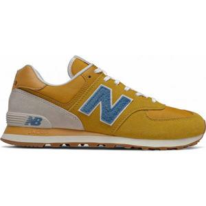 New Balance ML574SCB oranžová 11 - Pánska voľnočasová obuv