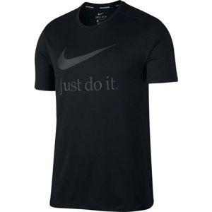 Nike RUN SS GX čierna M - Pánske bežecké tričko