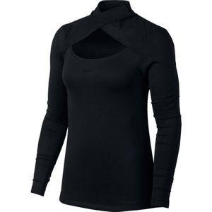 Nike NP WM TOP MESH NECK LS - Dámske športové tričko