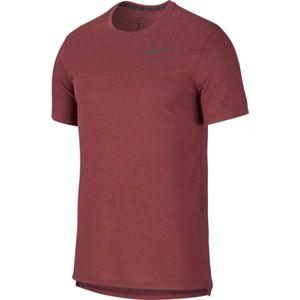 Nike BRT TOP SS HPR DRY M vínová XL - Pánske tričko