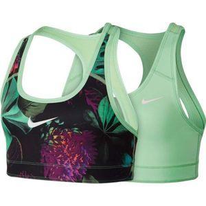 Nike NP BRA CLASSIC REV zelená L - Dievčenská športová podprsenka