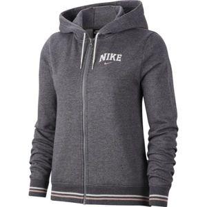 Nike NSW HOODIE FZ FLC VRSTY W šedá XL - Dámska mikina