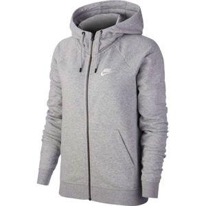 Nike NSW ESSNTL HOODIE FZ FLC šedá M - Dámska mikina