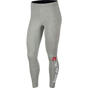 Nike NSW LGGNG CLUB W šedá L - Dámske legíny