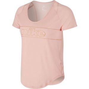Nike TOP SS 10K GLAM W - Dámske bežecké tričko