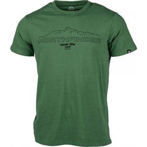 Northfinder ANTIN zelená M - Pánske tričko