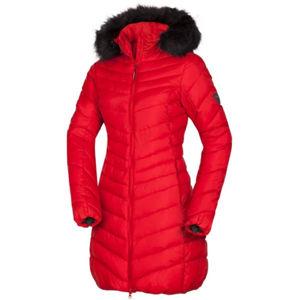 Northfinder VONILA červená M - Dámska dlhá zimná bunda