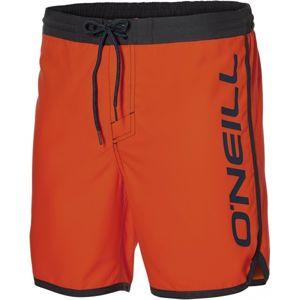 O'Neill PM FRAME LOGO SHORTS oranžová L - Pánske šortky do vody