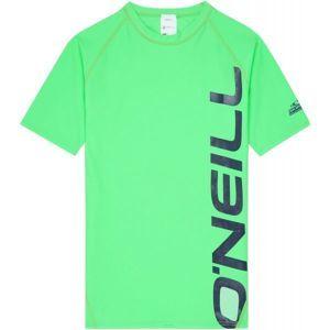 O'Neill PB LOGO SHORT SLEEVE SKINS zelená 14 - Chlapčenské kúpacie tričko s UV filtrom