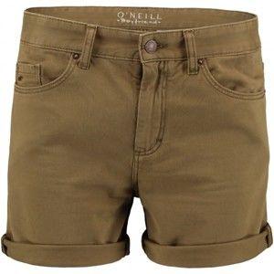 O'Neill LW 5 PKT SHORTS zelená 27 - Dámske šortky