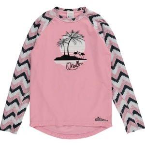 O'Neill PG HORIZON PALM L/SLV SKIN ružová 10 - Dámske tričko