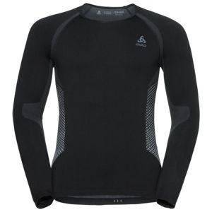 Odlo SHIRT L/S SEAMLESS WARM čierna L - Pánske funkčné tričko