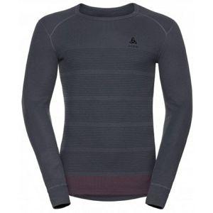 Odlo JUL PRINT THIRTL/S CREW NECK sivá S - Pánske tričko