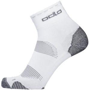 Odlo SOCKS CERAMICOOL CYCLING QUARTER biela 39 - Unisex ponožky