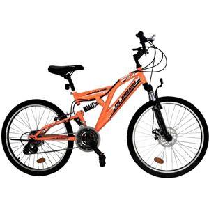 """Olpran MAGIC DISC 24"""" oranžová NS - Detský celoodpružený bicykel"""