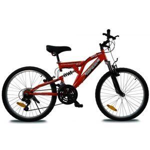 Olpran MAGIC 24 červená NS - Detský celoodpružený bicykel