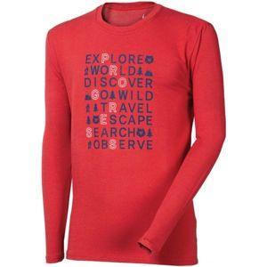 Progress VANDAL EXPLORE BAMBUS červená XL - Pánske tričko