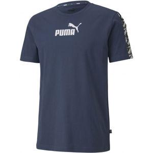 Puma APLIFIED TEE modrá XL - Pánske športové tričko