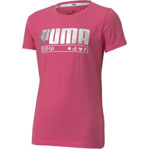 Puma ALPHA TEE G  128 - Dievčenské tričko