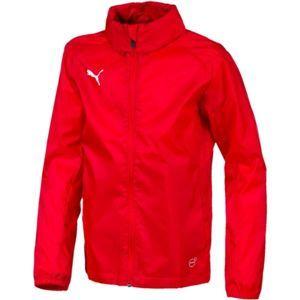 Puma LIGA TRG RAIN JKT CORE JR červená 128 - Detská bunda
