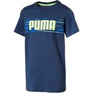 Puma HERO TEE modrá 116 - Chlapčenské tričko