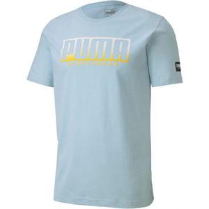 Puma ATHLETIC TEE BIG LOGO modrá XXL - pánske športové tričko