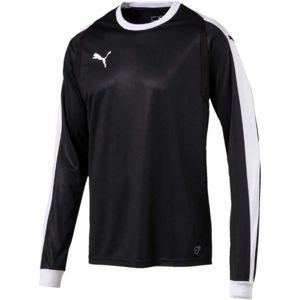 Puma LIGA GK JERSEY JR čierna 164 - Chlapčenské tričko