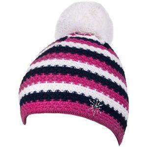 R-JET SPORT FASHION BASIC ružová UNI - Dámska pletená čiapka