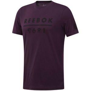 Reebok GS REEBOK 1895 vínová XL - Pánske tričko