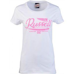 Russell Athletic GLITTER PRINTED WINGS S/S CREWNECK TEE SHIRT - Dámske tričko