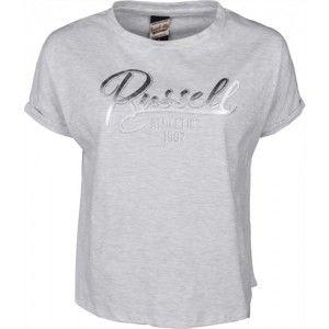 Russell Athletic GLITTER TEE sivá S - Dámske tričko