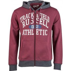 Russell Athletic ZIP THROUGH HOODY  WITH GRAPHIC PRINT čierna M - Pánska mikina