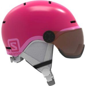 Salomon GROM VISOR ružová (53 - 56) - Detská lyžiarska prilba