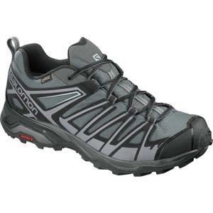 Salomon X ULTRA 3 PRIME GTX šedá 8 - Pánska hikingová  obuv