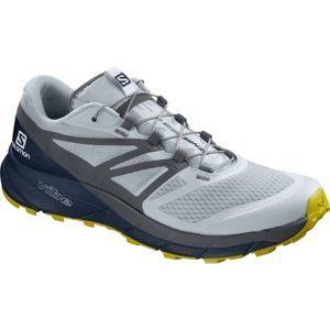 Salomon SENSE RIDE 2 šedá 9.5 - Pánska trailová obuv