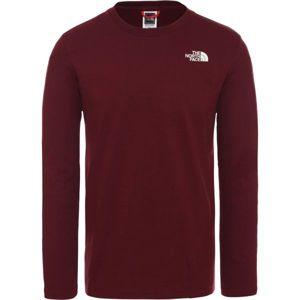The North Face L/S EASY TEE DEEP M vínová XL - Pánske tričko