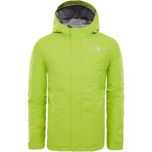 The North Face YOUTH SNOW QUEST JACKET zelená XL - Detská zateplená bunda