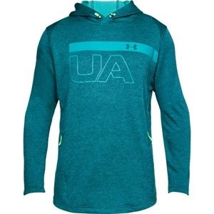 Under Armour TECH TERRY PO GRAPHIC HOODIE zelená L - Pánska mikina