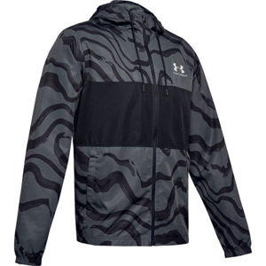 Under Armour SPORTSTYLE WIND PRINTED HOODIE JACKET  S - Pánska bunda