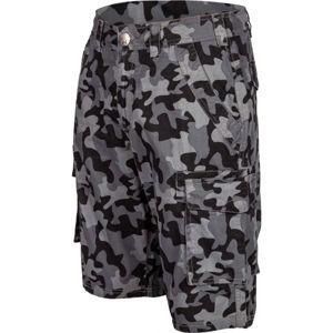Willard RUDA sivá XL - Pánske plátenné šortky